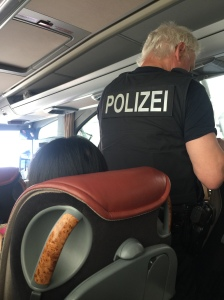 German Passport Control Police on the bus