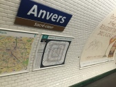 Paris metro at Anvers stop
